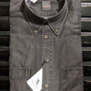 HAUPT Men's Long Sleeve Button Down Shirt